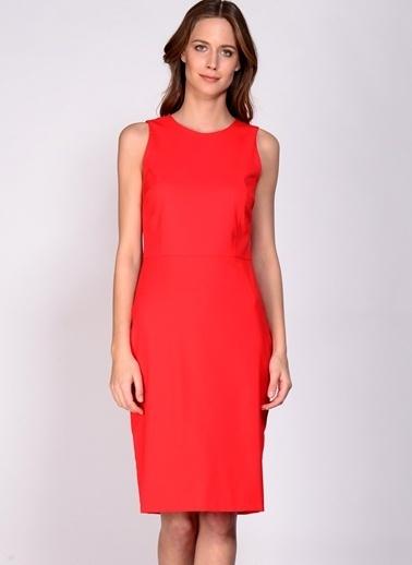 House Of Camellia Kolsuz Düz Elbise Kırmızı